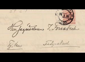 Schweden: 1920: Brief Stockholm