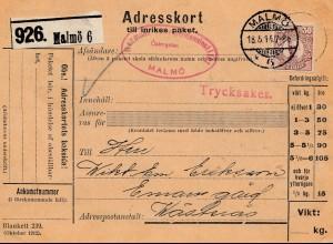 Schweden: 1914: Adresskort Malmö