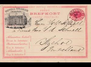 Schweden: 1888: Ganzsache Malmö