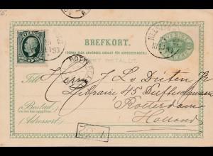 Schweden: 1893: Ganzsache nach Rotterdam