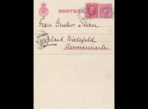 Schweden: 1899: Satitsjöbaden nach Bielefeld