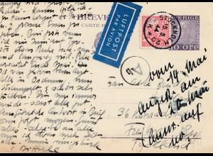 Schweden: 1944: Luftpost Stockholm nach Freiburg, Zensur