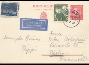 Schweden: 1956: Luftpost nach Berlin