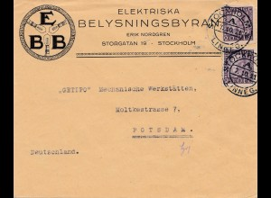 Schweden: 1921: Stockholm nach Potsdam
