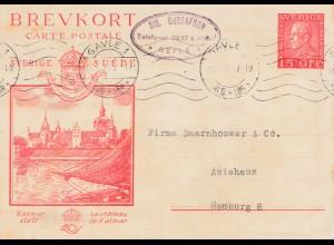 Schweden: 1930: Ganzsache Befle - Gavle nach Hamburg