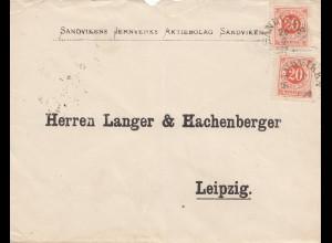 Schweden: 1890: SAndvike nach Leipzig