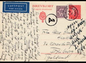 Schweden: 1944: Stocksunu nach Freiburg, OKW Zensur, Luftpost