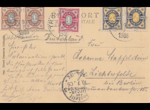 Schweden: 1906: Ansichtskarte Trollhättan