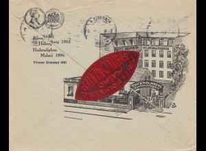 Schweden: 1927: Brief von Malmö nach Dresden