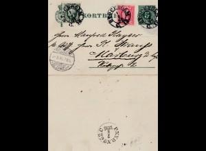 Schweden: 1895: Stockholm nach Marburg