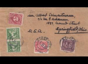 Schweden: Briefvorderseite nach USA