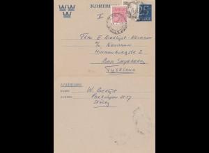 Schweden: 1955: Ganzsache nach Bad Segeberg
