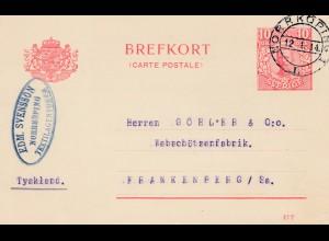 Schweden: 1914: Norrköping nach Frankenberg