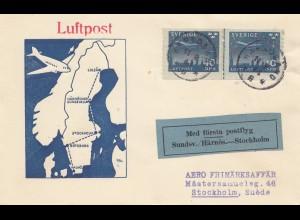 Schweden: Luftpost Stockholm