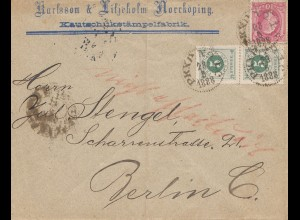 Schweden: 1888: Norrköping nach Berlin, Kautschuk-Fabrik