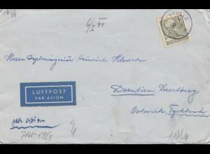 Schweden: 1944 Luftpost Koskullskulle nach Dornbirn, Zensur