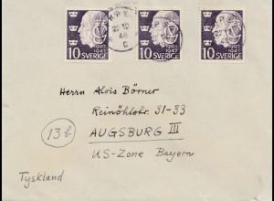 Schweden: 1948: Uppsala nach Augsburg