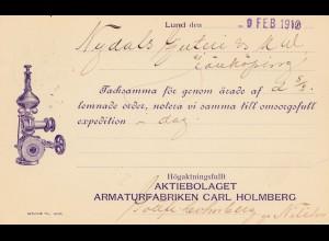Schweden: 1912: Ganzsache aus Lund