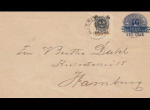 Schweden: 1895: Ganzsache nach Hamburg