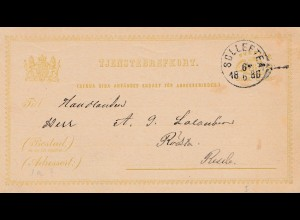 Schweden: 1880: Solleftea auf Ganzsache P1
