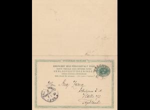 Schweden: 1892: Stockholm auf Ganzsache P23