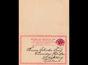 Schweden: 1913: Ganzsache an Gebrüder Senf, Leipzig