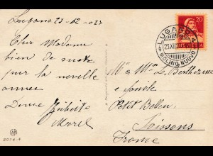 Schweiz: 1927: Lugano Molino Nuovo nach Frankreich