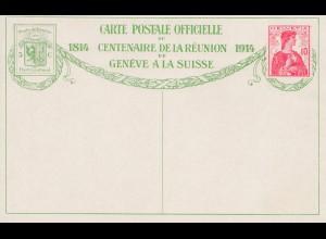 Schweiz: 1914 Ganzsache Genf mit Ansicht Nr. 6