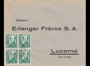 Schweiz: 1935: Brief nach Luzern