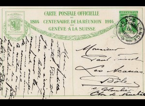 Schweiz: 1914 Ganzsache Grand Lancy mit Ansicht Nr. 2