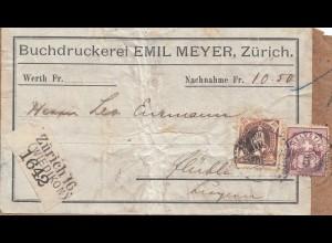 Schweiz: Buchdruckerei Zürich nach Luzern, Adressteil