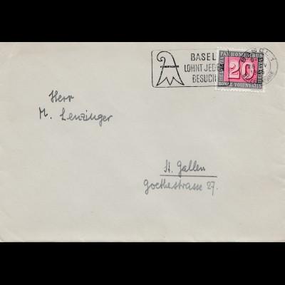 Schweiz: 1945: Basel-St. Gallen