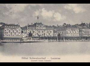 Schweiz: 1911: Ansichtskarte Luzern nach Constantinople