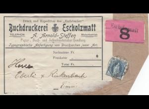 Schweiz: Buchdruckerei Escholzmatt, Adressteil