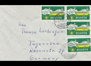 Schweiz: 1957: Zürich nach Tegernsee