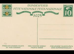 Schweiz: 1925: Ganzsache Bundesfeier