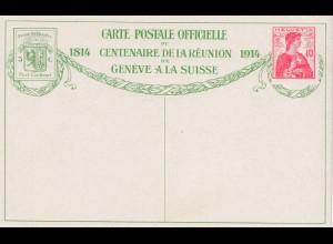 Schweiz: 1914: Ganzsache mit Bild Nr. 10