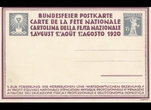 Schweiz: 1913,1915,1920: Ganzsachen Bundesfeiern
