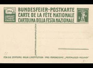 Schweiz: 1910,1913,1924: Ganzsachen Bundesfeiern