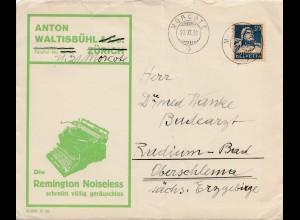 Schweiz: 1931: Morcote nach Radium Bad-Oberschlema mit Briefinhalt