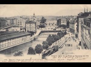 Schweiz: 1900: Ansichtskarte Genf Quai