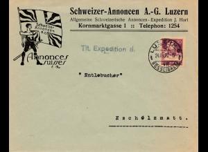 Schweiz: 1922: Luzern nach Escholzmatt