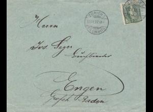 Schweiz: 1917: Zürich nach Engen