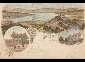Schweiz: 1900: Ansichtskarte Uetsiberg