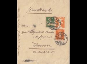 Schweiz: 1922: Luzern nach Weimar