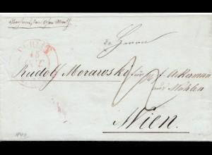 Schweiz: 1842: Wöhlen nach Wien, Muster