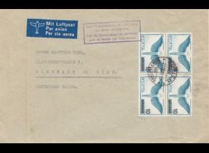 Schweiz: 1938: Zürich nach Biberach, Luftpost, Vignette Pfadfinder, Boy Scout