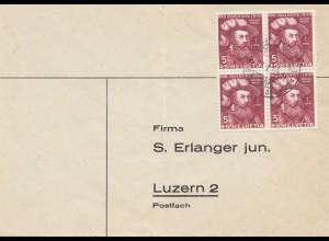 Schweiz: 1950: Olten nach Luzern