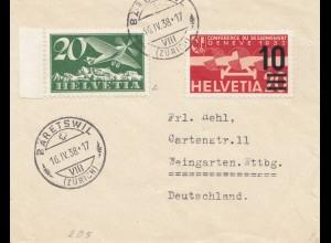 Schweiz: 1938: Baretswil nach Weingarten