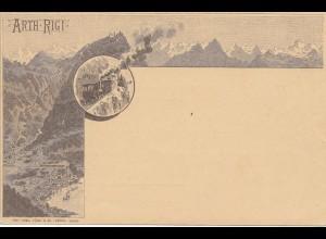 Schweiz: Ganzsache, Ansichtskarte Arth Rigi - Bergbahn